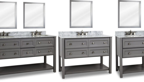 Grey Finish White Top Combination Adler Vanity Collection by Elements Photo Credits Hardware Resources